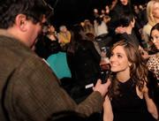 Эмми Россам, фото 3301. Emmy Rossum - Donna Karan Fall 2012 fashion show in New York 02/13/12, foto 3301