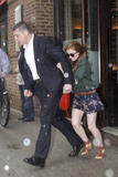 Isla Fisher | Lunch @ Pastis Restaurant in NYC | April 28 | 10 leggy pics